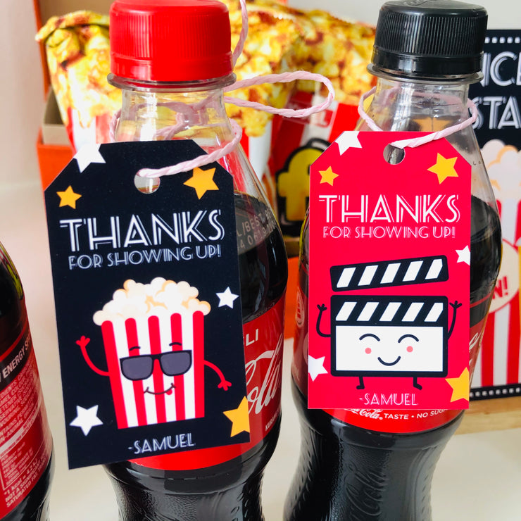 Movie Night Party Gift Tags