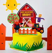 Old MacDonald Farm Cake Topper