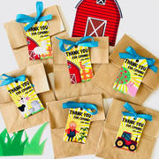 Old MacDonald Farm Party Favor Tags