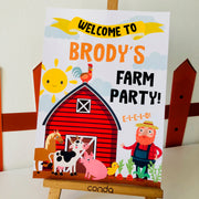 Old MacDonald Farm Party Welcome Sign