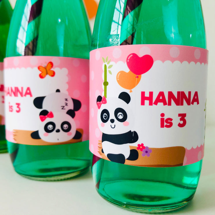 Panda Bottle Stickers