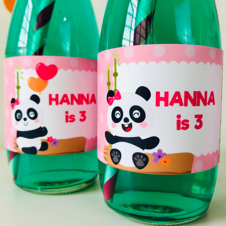 Panda Girl Bottle Labels