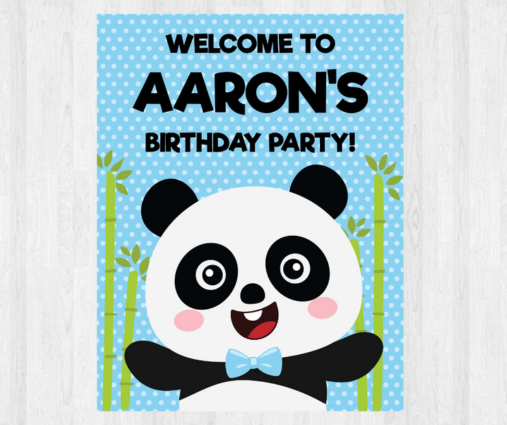 Panda Party Welcome Sign