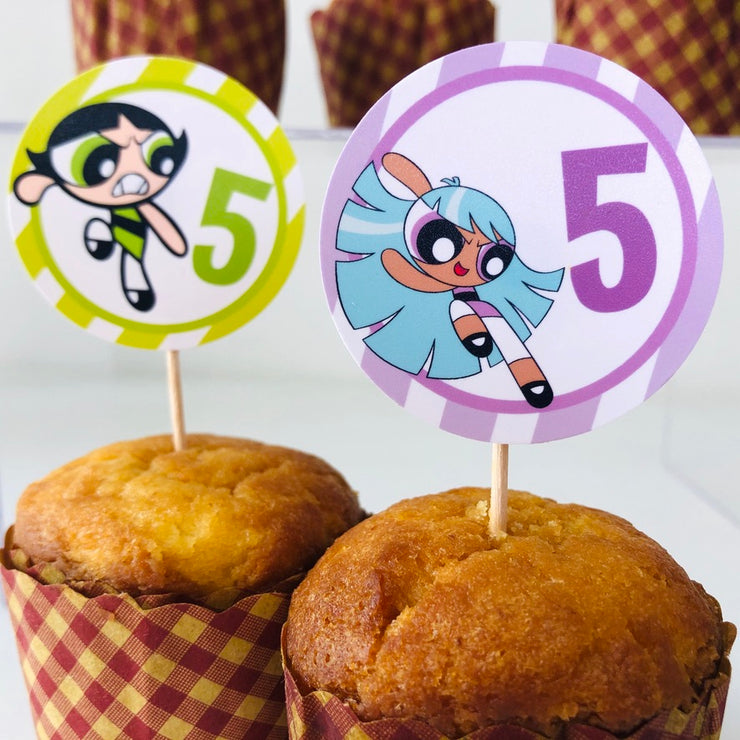 Powerpuff Girls Buttercup & Blisster Cupcake Toppers