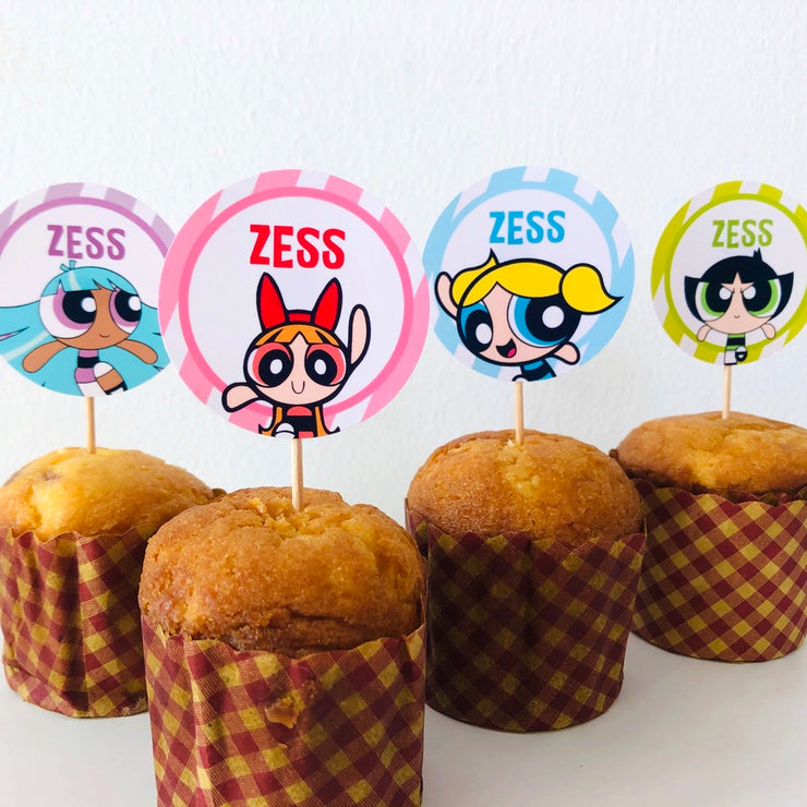 Powerpuff Girls Cupcake Topper Printables