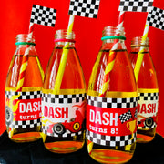 Race Car Bottle Stickers