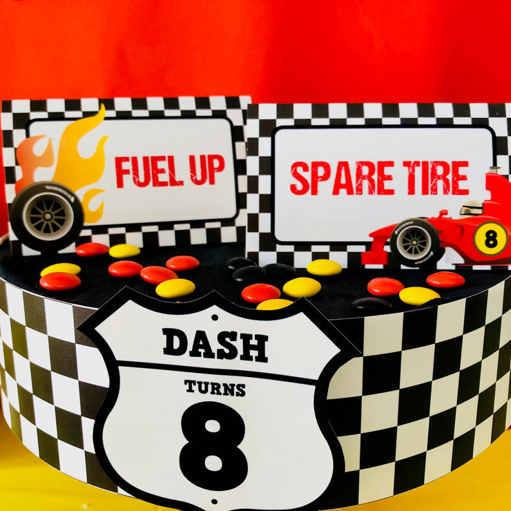 Race Car Food Labels