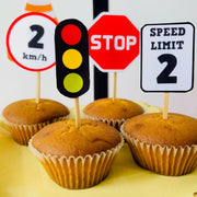 Road Signs Cupcake Topper