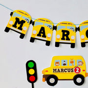 School Bus Birthday Banner