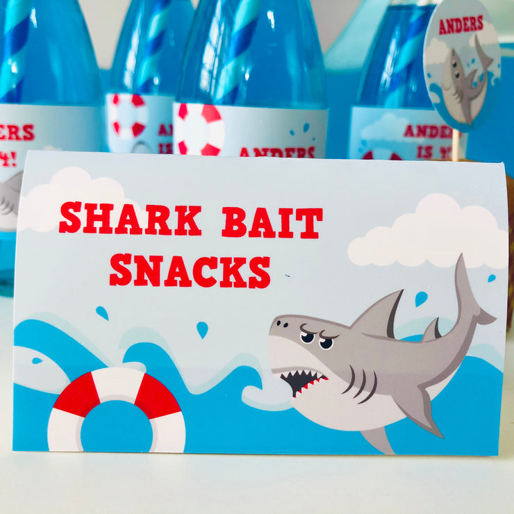 Shark Food Label Printable