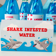 Shark Food Tent Card