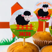 Sheep Cupcake Toppers