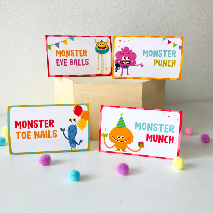 Super Simple Monsters Food Labels