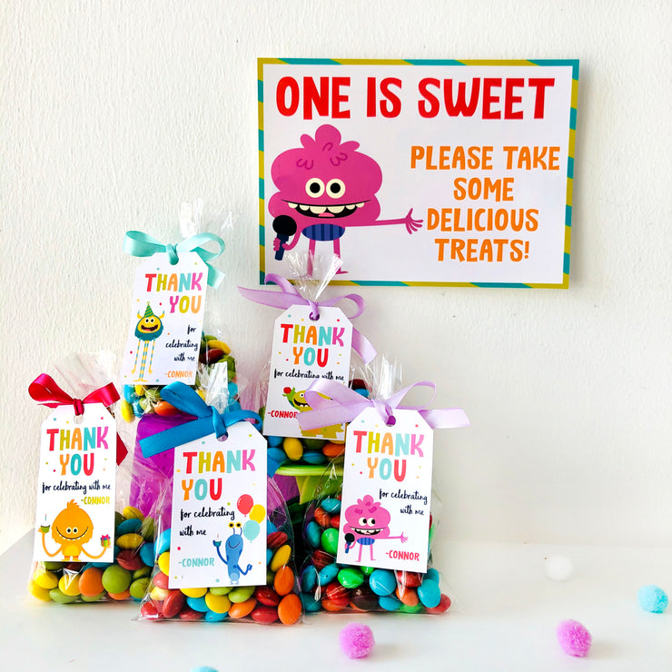 Super Simple Monsters Treats Sign