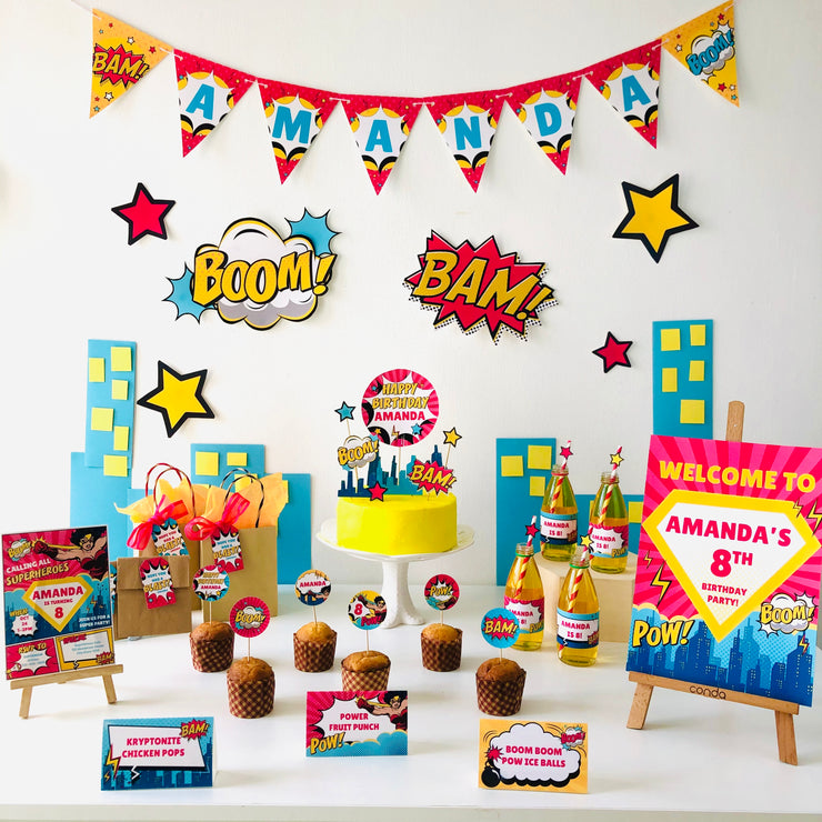 Supergirl Birthday Party Printable