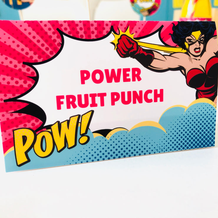 Supergirl Food Label