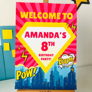 Supergirl Party Decor Sign
