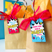 Supergirl Party Favor Tags