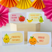 Tutti Frutti Food Labels