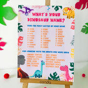 Whats your dinosaur name pink