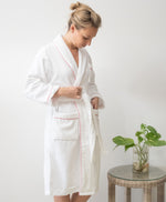 Spa Bathrobe with pink border