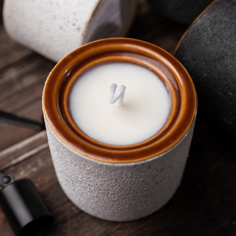 Soy Wax Handmade Aromatherapy Candle - Vanilla Cream (White)