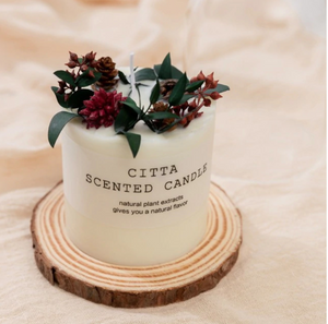 Soy Wax Aromatherapy Candle - Red Pillar Candle
