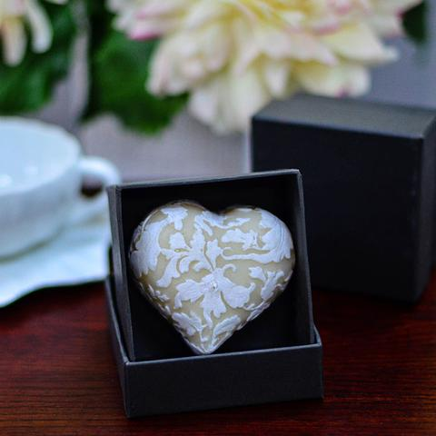 Beeswax Heart Candle by NLC