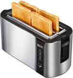 IKICH 4 Slice Toaster, Stainless Steel, Extra Wide 4Slice Long Slot Toaster, 6 Browning Setting(Warming Rack/Variable Width/High-Lift/1500W, Defrost/Reheat/Cancel/Automatic Toaster)[Energy Class A+++]