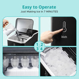 IKICH Ice Maker with LED Indicator Lights