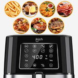 IKICH Air Fryer 6QT XL Larger Hot Air Fryer Cooker 85% Oilless LED Digital Touchscreen Super Easy Operation Healthy Deep Fryer 7 Presets Nonstick Basket Dishwasher Safe Stainless Steel (CP195)