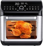 IKICH Air Fryer Oven, 12QT 1500W Electric Large Hot Air Fryer, 10+7 Presets & Cooking Modes, w/LED Touchscreen, Dehydrator & Rotisserie with Skewer Rack, Removal Tool, Cookbook