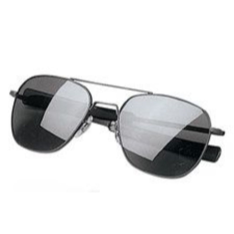 G.I. TYPE PILOT S AVIATOR SUNGLASSES - BLACK/SMOKE