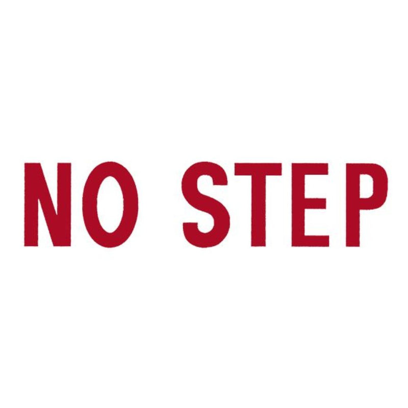 NO STEP DECAL (RED ON WHITE)