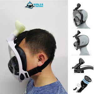 Ninja Shark Snorkel Mask (With KN95 Modification)