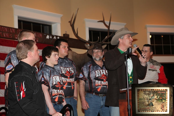 Matthew Smith donates Pride Custom Art at RMEF Des Plaines River Chapter