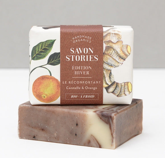 Savon Edition Hiver - le réconfortant à l'orange, gingembre et cannelle - Savon Stories
