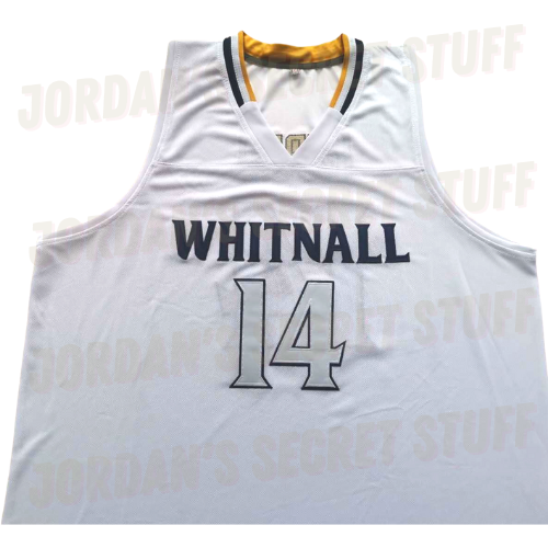 NEW Tyler Herro Whitnall High School Jersey White Colorway