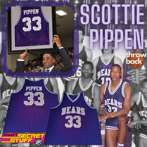 Scottie Pippen Throwback Arkansas High School Retro Jersey