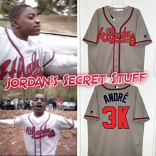 "Load image into Gallery viewer, Andre 3000 ""Player's Ball"" Atlanta Braves Baseball #3K Music Jersey Custom Throwback 90's Retro Music Video Jersey"