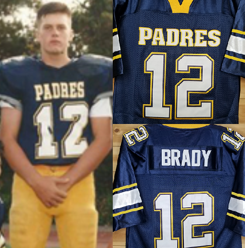 FLASH SALE! Tom Brady Padres High School Football Jersey Custom Throwback Retro Jersey