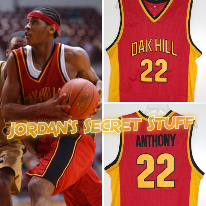 Carmelo Anthony High School Basketball Jersey Oak Hill Custom Throwback Retro Jersey