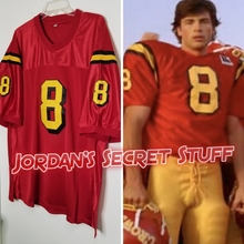 Load image into Gallery viewer, Clark Kent Smallville TV Superman #8 Football Jersey Custom Throwback Retro TV Show Jersey
