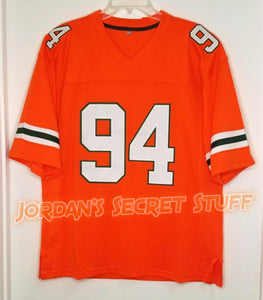 "Dwayne ""The Rock"" Johnson Miami College #94 Football Jersey Custom Throwback Retro Jersey"