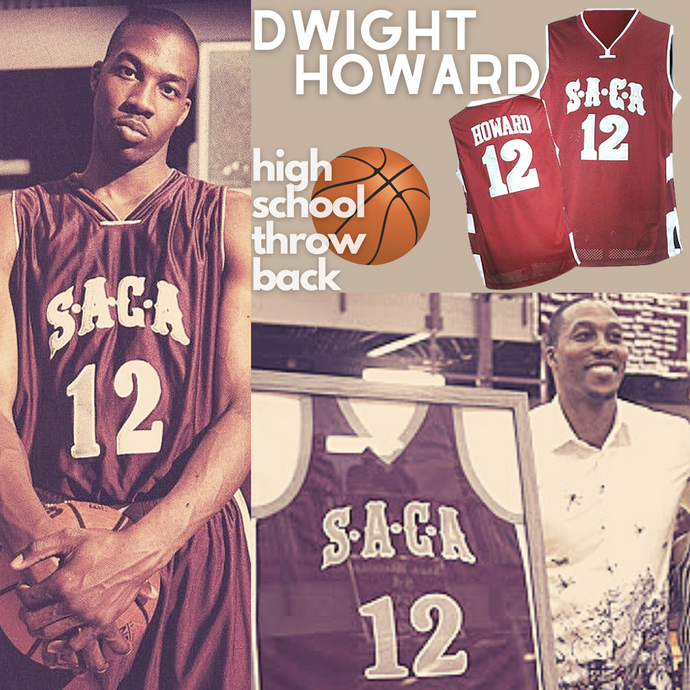 Dwight Howard High School SACA Basketball Throwback Jersey Los Angeles