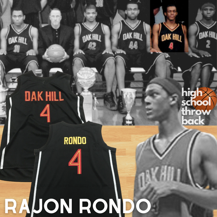 Rajon Rondo Oak Hill High School Basketball Jersey Custom Throwback Retro Jersey