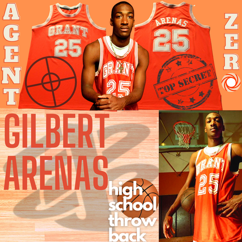 Gilbert Arenas High School Jersey Agent Zero Throwback Washington D.C.