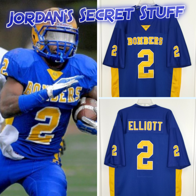 Ezekiel Elliott Burroughs High School Football Jersey Custom Throwback Retro Jersey