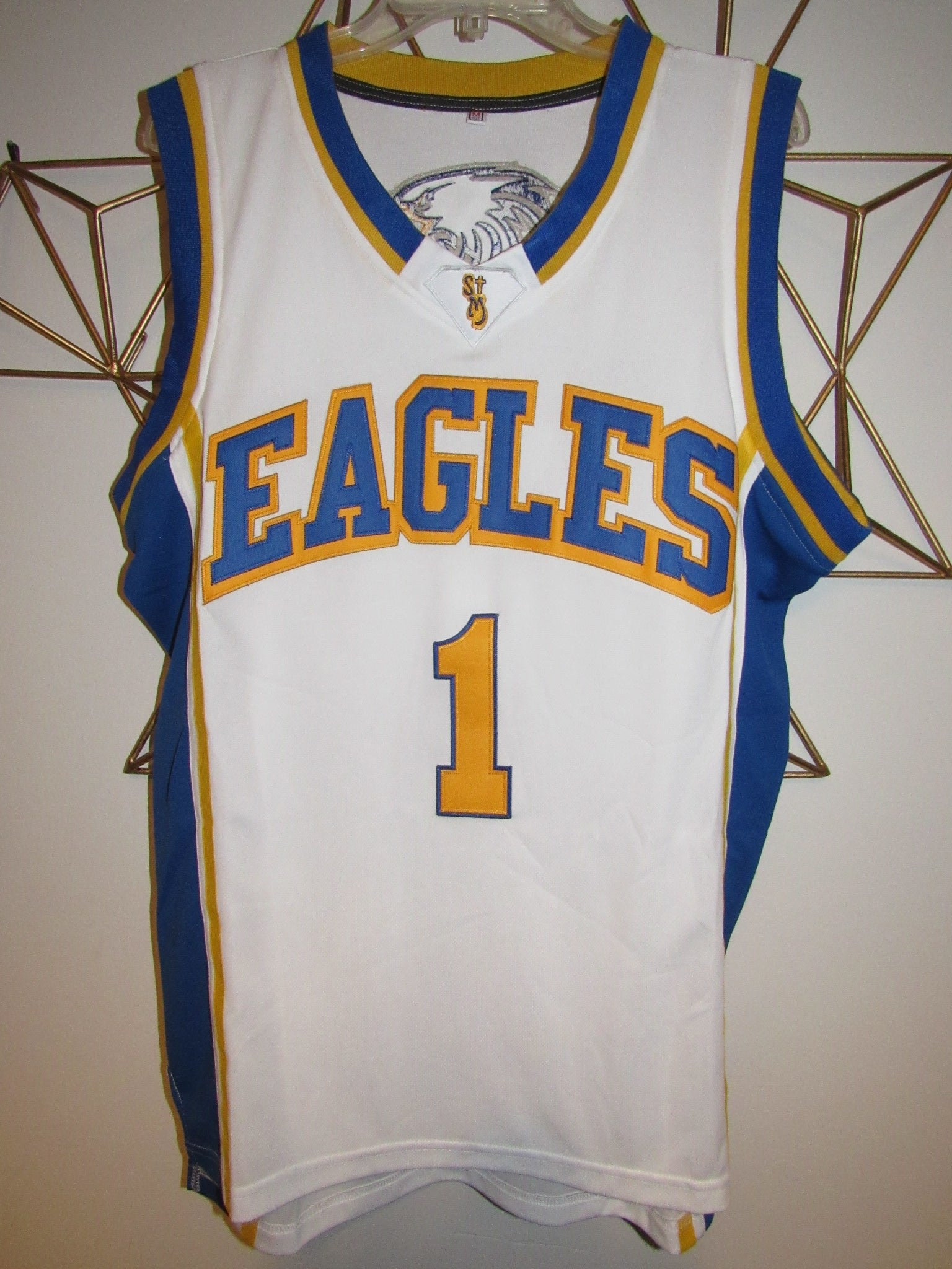 new style 28e3f 34065 Klay Thompson Eagles High School Basketball Jersey (Home ...