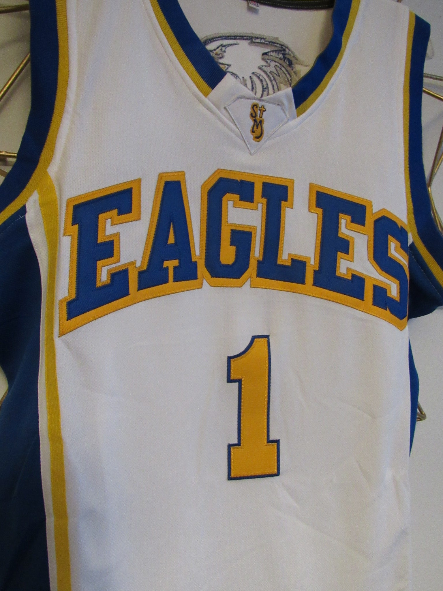 new style 49716 f28d4 Klay Thompson Eagles High School Basketball Jersey (Home ...